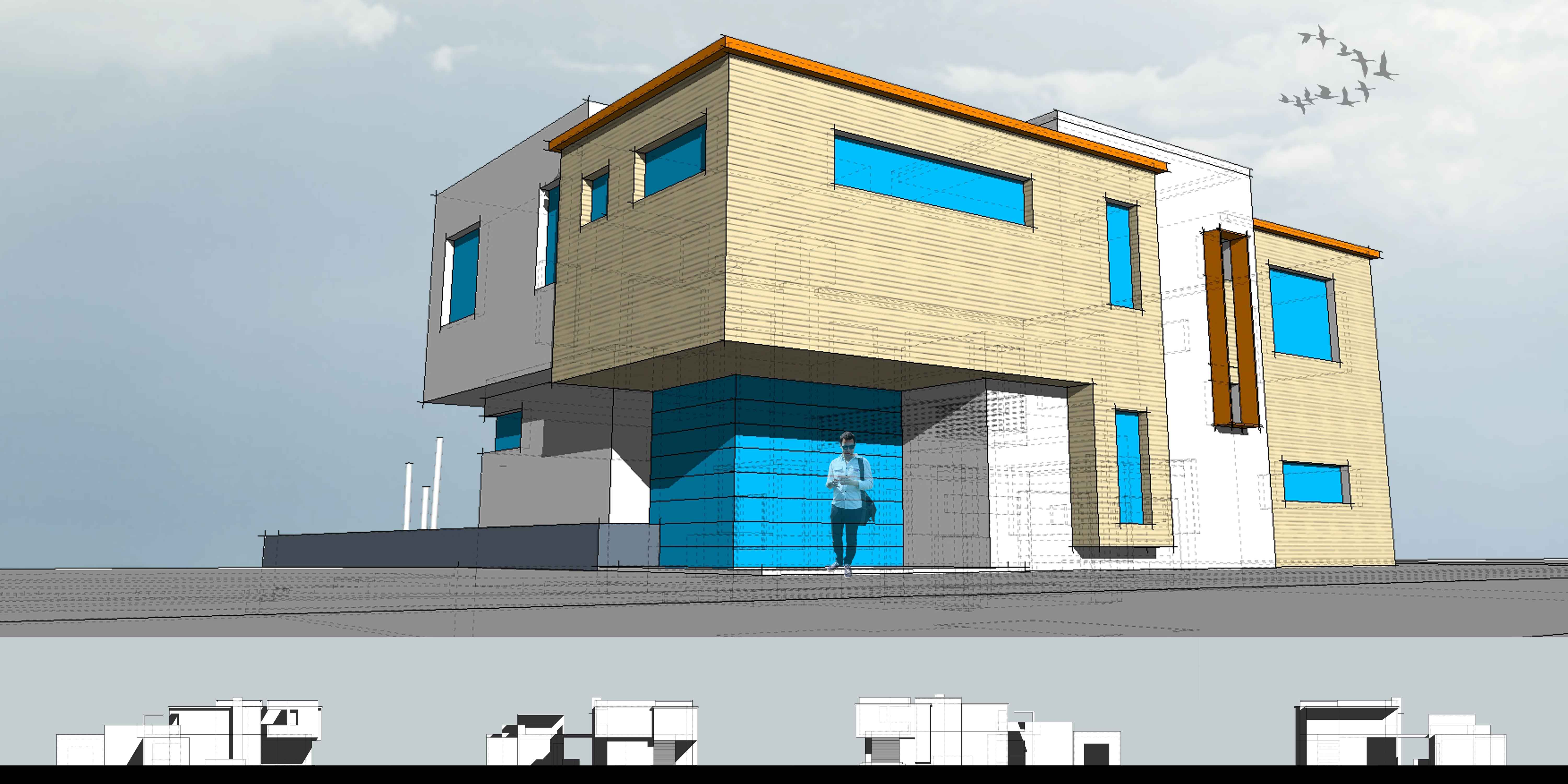 Sketchup 101 architect 39 s trace for Software to model a house
